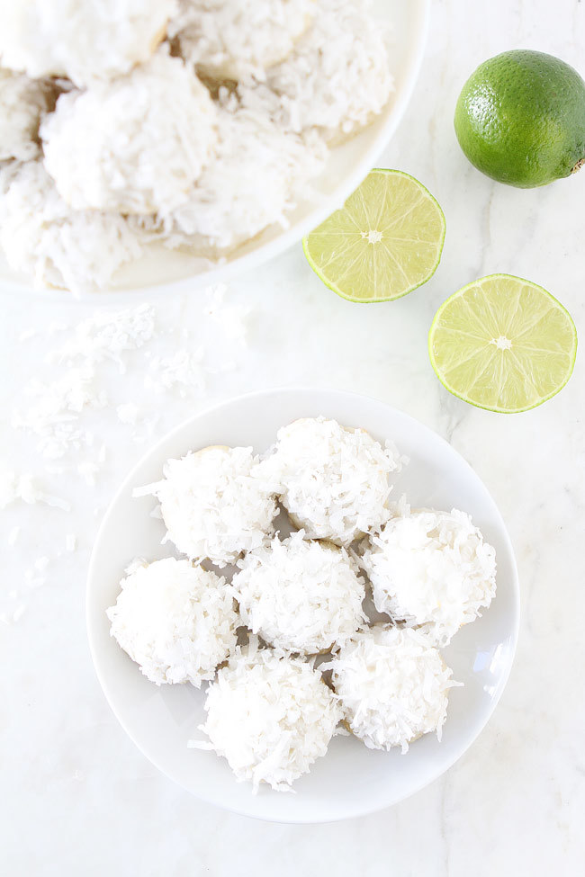 Lime Coconut Snowballs